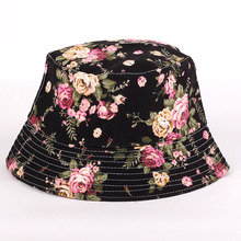 Summer UV Women Floral Sun Hat hot outdoor fishing sun hat Bob letter fisherman panama cap chapeau cotton bucket hat boonie hat