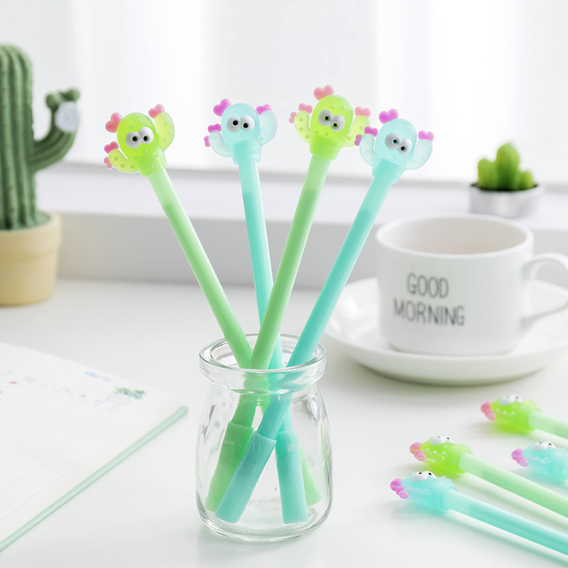 1 PCS New Cute Cactus Modelling Gel Pen Student Stationery Novelty Gift School Material Office Supplies