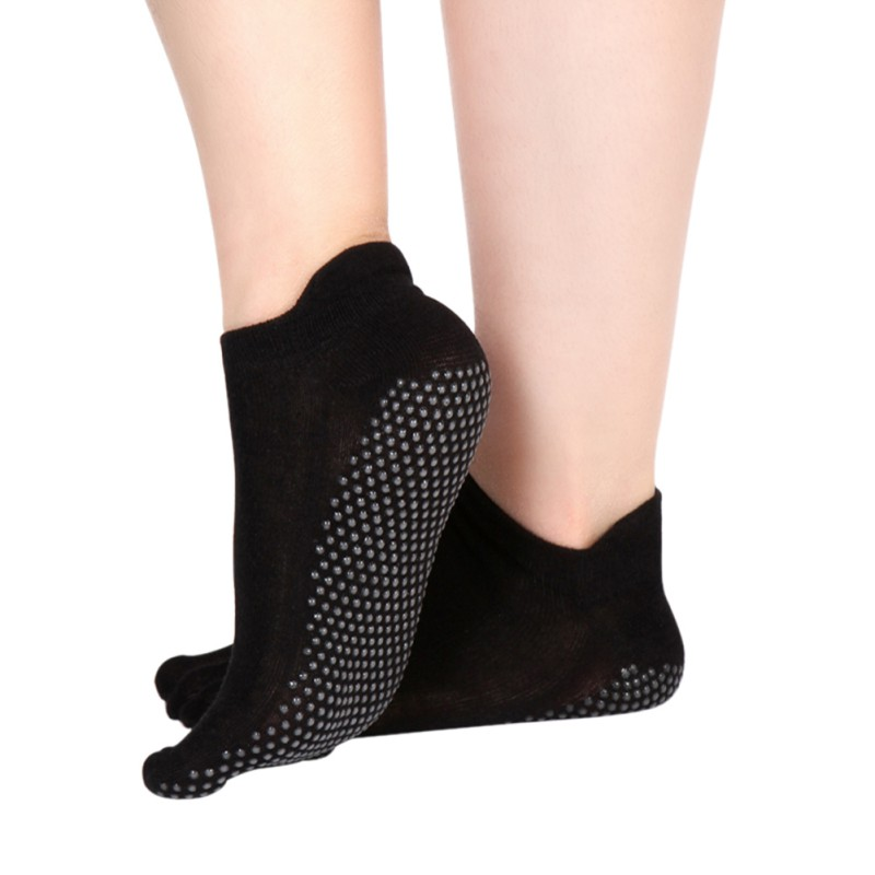1 Pair Women Yoga Fitness Pilates Socks Colorful Non Slip Massage Toe Durable Sport Socks Outdoor