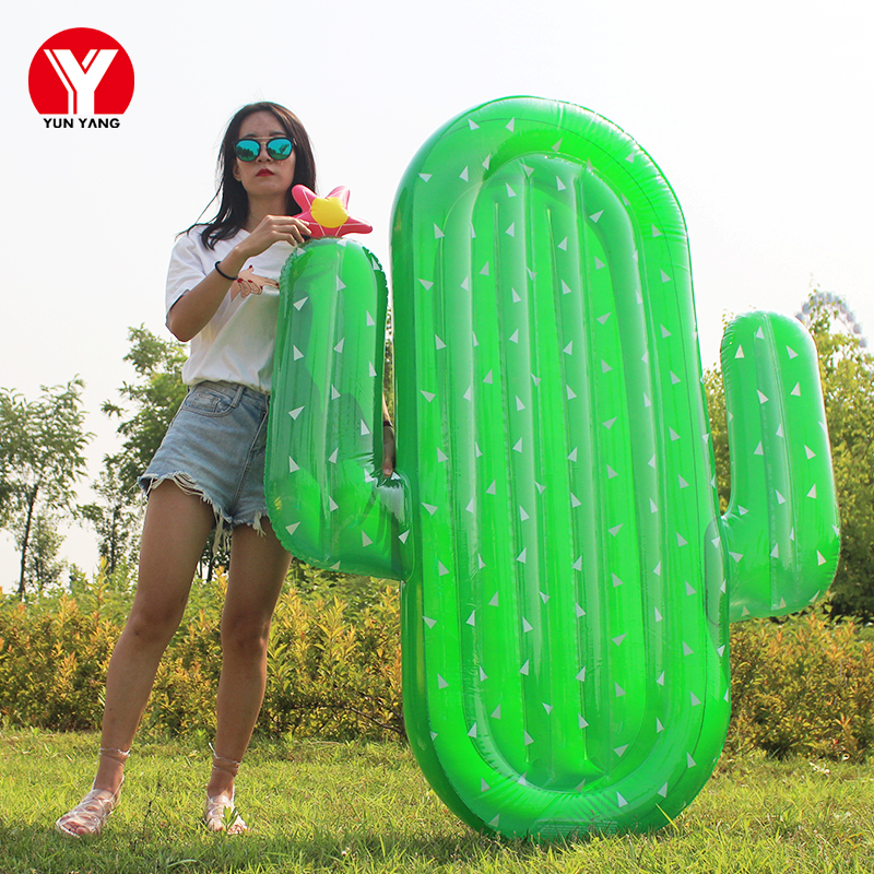 Adult swimming inflatable cactus float 180cm giant cactus float inflatable summer water mattress fun toy raft