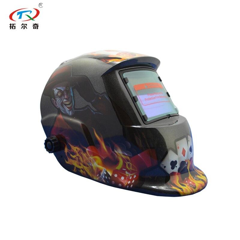 Tools : Full face shied easy cap god of gamblers auto darkening lens auto darking welding helmet