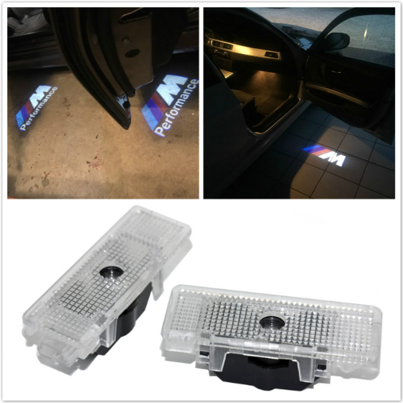 2x Car Accessories LED Ghost Shadow Projector Laser Courtesy Logo Light For BMW E39 E53 E52 528i Car-styling welcome logo light