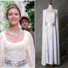 Free shipping new High Quality Custom made Movie star wars Princess Leia Organa Dress Cosplay Costumes