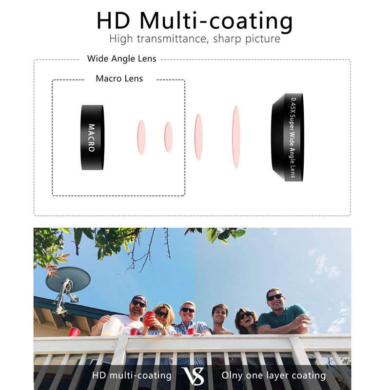 Large Aperture Hd Phone Lens 52Uv 0 45X Wide Angle 15X Macro Lens 2 In 1 Clip On Cell Phone Camera Lens For Iphone Samsung in Camcorder Lenses from Consumer Electronics