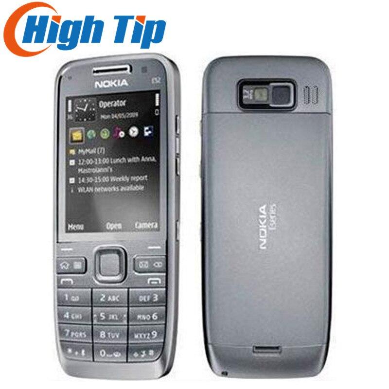 Russische tastatur unterstützung Nokia E52 cellular 3g telefon Entriegelte ursprüngliche 3.2MP Kamera Renoviert 1 jahr garantie Freies Verschiffen