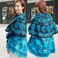 Women Pashmina Cotton Folk-custom Fluid Systems Round Cloak Cape 2016 New Autumn Winter Thicken Scarf Fringed Cashmere Shawl