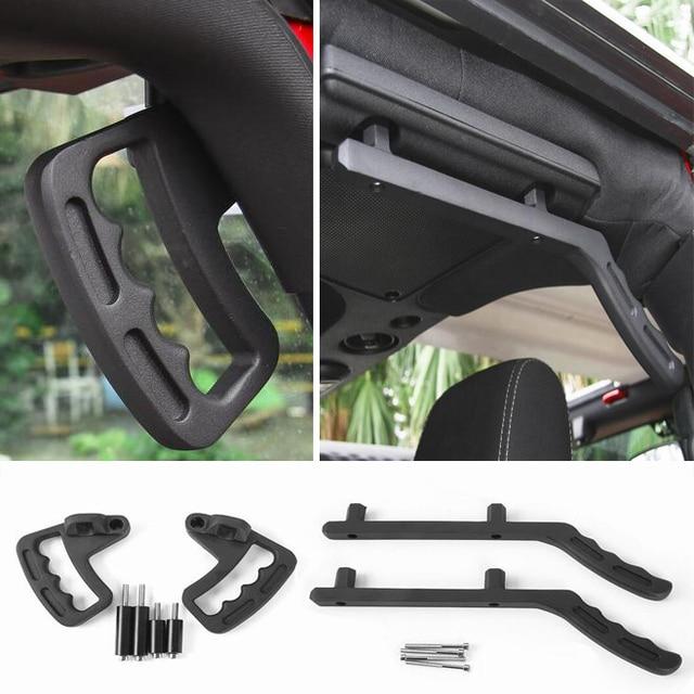 Newest Hard Top Mount Hardtop Grab Handle Bar Front Rear Interior Parts Metal For Jeep Wrangler jk 2007 Up - Free Shipping