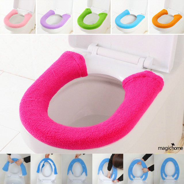 Wc Warm Cashmere Toilet Seat Cover with Buckle Toalete Badkamer ...