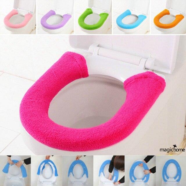 Wc Warme Kaschmir Toilettensitzabdeckung mit Schnalle Toalete ...