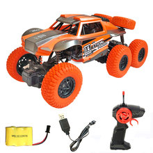 1:20 Electric RC Car 6 Wheels 4WD 2.4G 15KM/H Radio Remote Control Racing Climbing Truck Buggy All-Terrain Off-Road Vehicle Toys все цены