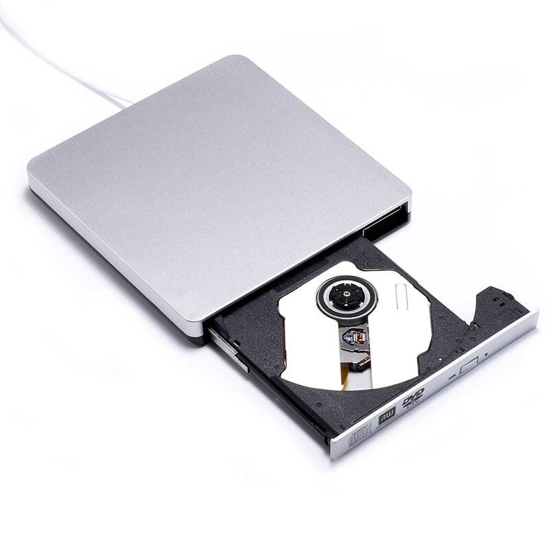 USB 2.0 DVD-RW оптический привод горелки внешний dvd плеер CD/DVD Встроенная память писатель для ноутбука Windows 10/ 7/8 + диск чехол сумка