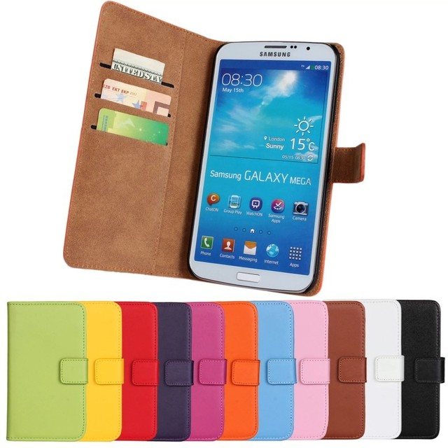 the latest 7af65 56c68 US $4.95  PU Leather Cases For Samsung Galaxy Mega 6.3 i9200 Wallet Phone  Accessory Coque Etui For Galaxy i9200 Case Cover Hoesje Capinha-in Wallet  ...