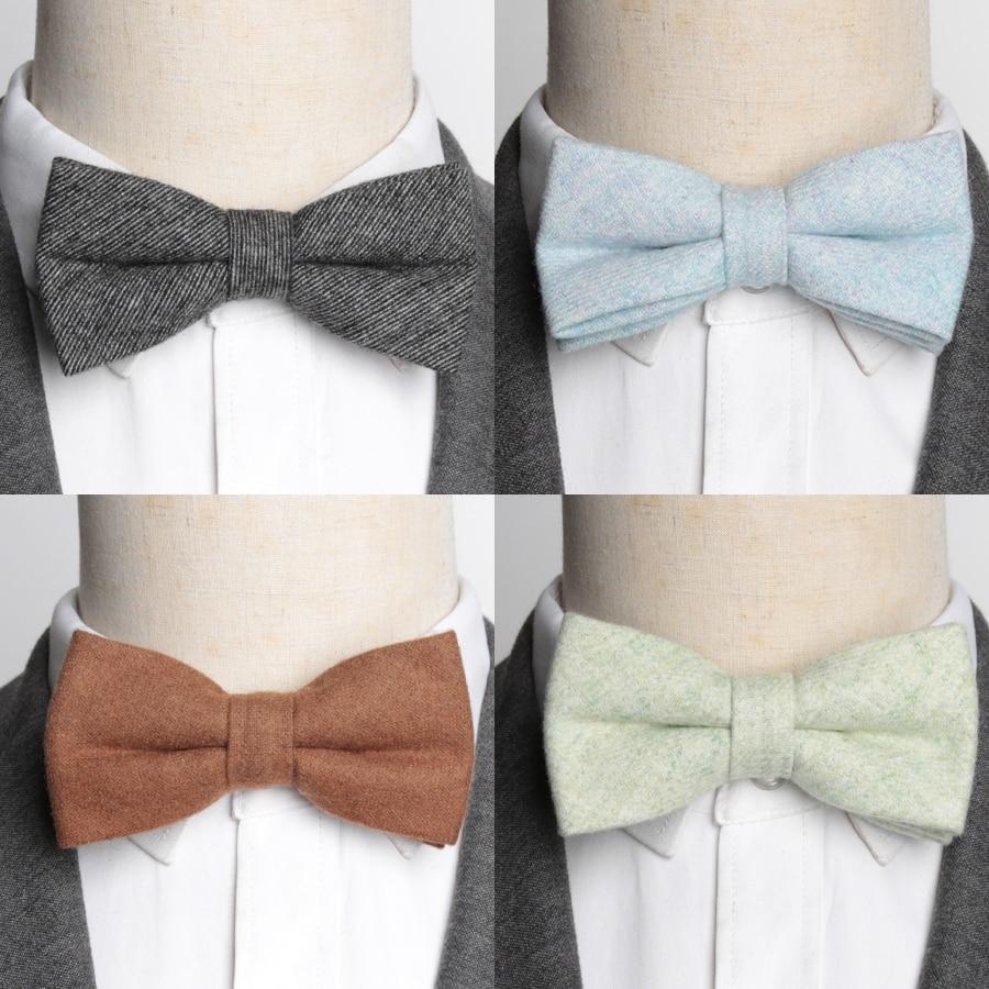 Men Bowtie Solid Wool Ties Mens Fashion Necktie Business Wedding Party Bow Tie Male Dress Shirt Accessories Corbatas Para Hombre in Men 39 s Ties amp Handkerchiefs from Apparel Accessories