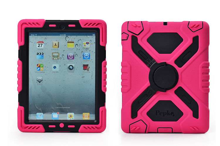 все цены на New Armor Heavy Duty Waterproof Dust Shock Proof Cover For iPad Air 1 2 With Stand Hang Armor Case онлайн