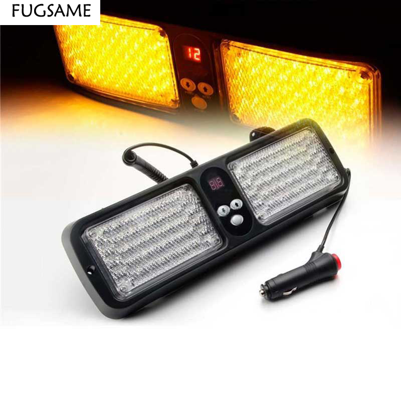 FUGSAME Car Led Sun Visors Shield Burst Flashing Lingts Strobe Lamp 5W 12V