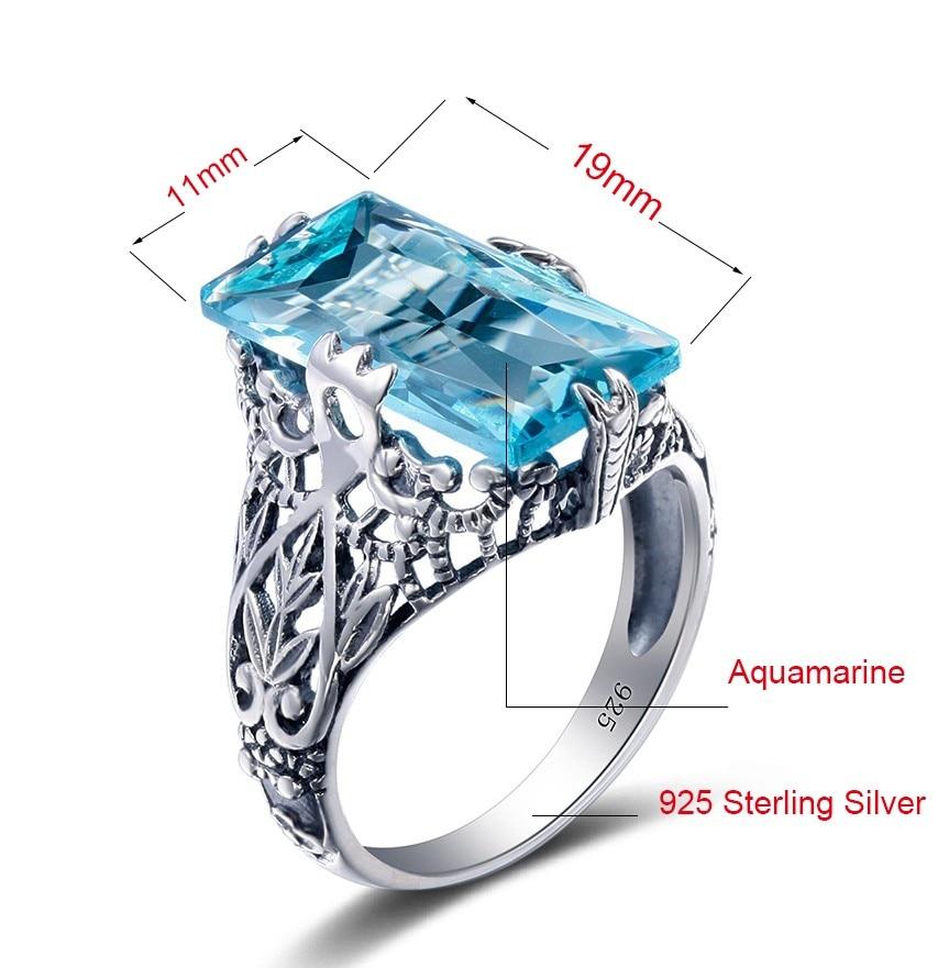 Turkish Handmade Sterling Silver 925 Aqua Marine Set Ring Earring  7 8 9
