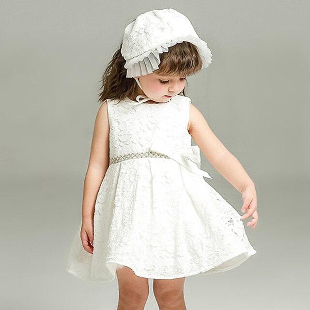 8bc11b7705960 Nouveau-né 1 Premier Anniversaire Bébé Filles Robe Infantile Blanc Litttle  Bébé fille Rose Robe