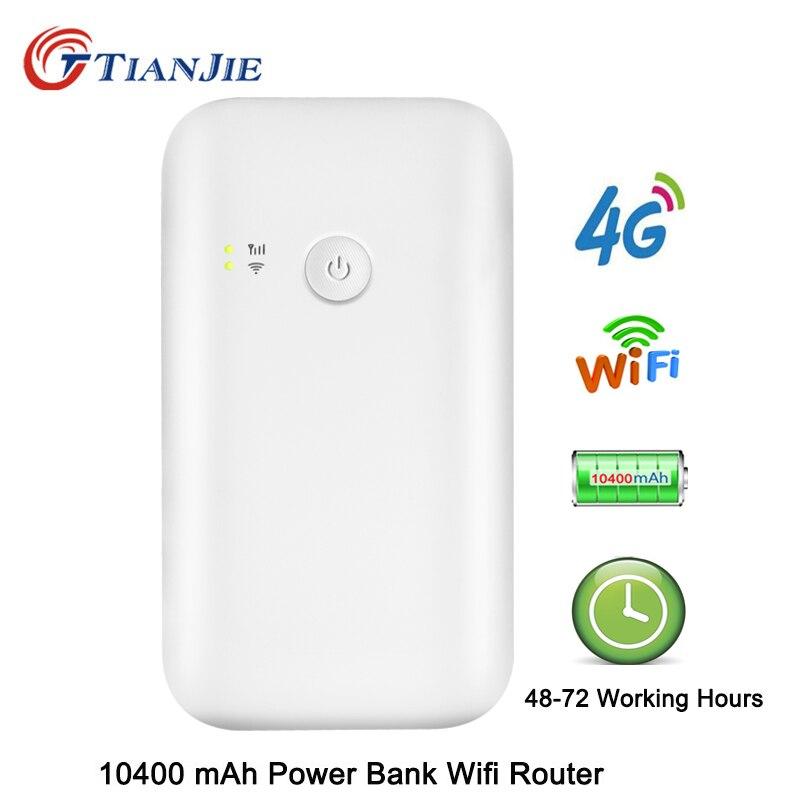 4G LTE Wifi Router 10400mah Battery Power Bank With Sim 150Mbps Mobile Hotspot Car Mifi Modem Portable Broadband