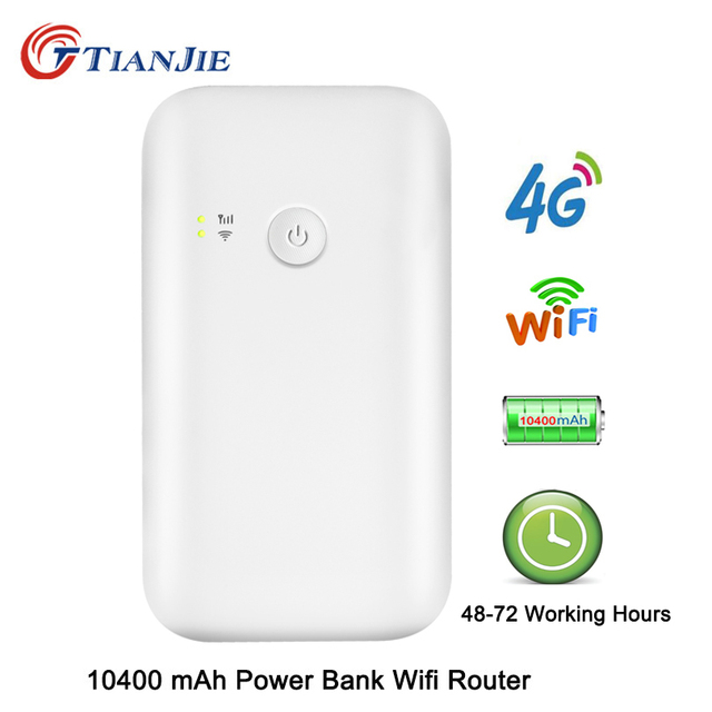 US $69 98 40% OFF|4G LTE Wifi Router 10400mah Battery Power Bank With Sim  150Mbps Mobile Hotspot Car Mifi Modem Portable Broadband-in Modem-Router