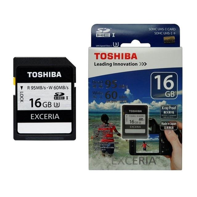 TOSHIBA USB3.0 Высокая Скорость 95 МБ/С. SD Card 16 ГБ Флэш-Карты Памяти SDHC UHS-1 U3 633X16 Г класс 10 Карта Камеры
