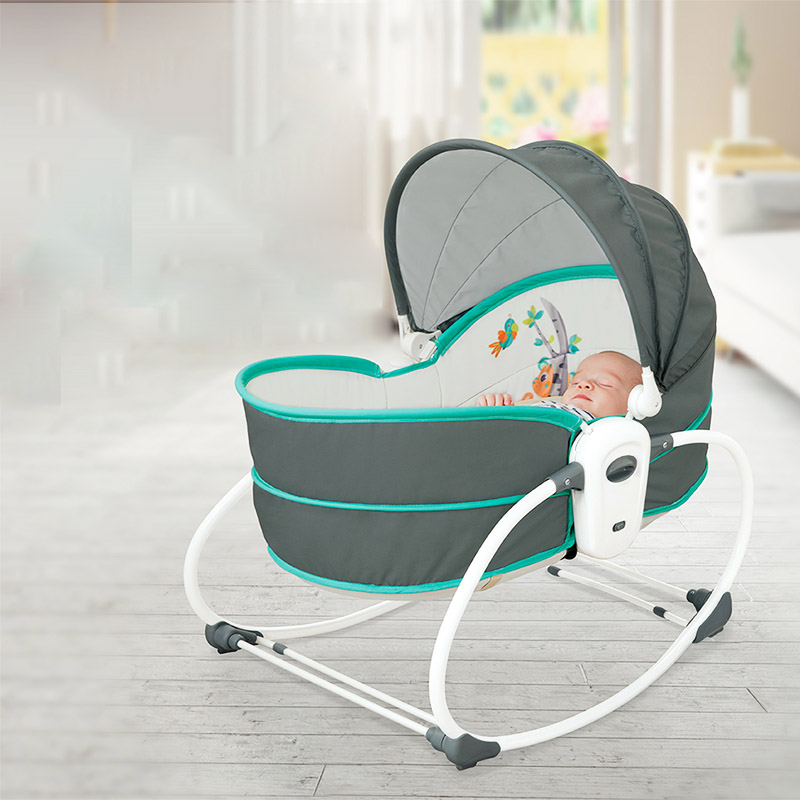 Baby Electric Cradle Vibration Crib In The Bed Rocking Chair Automatic Comfort Chair Shaker Can Sit On The Recliner Basket