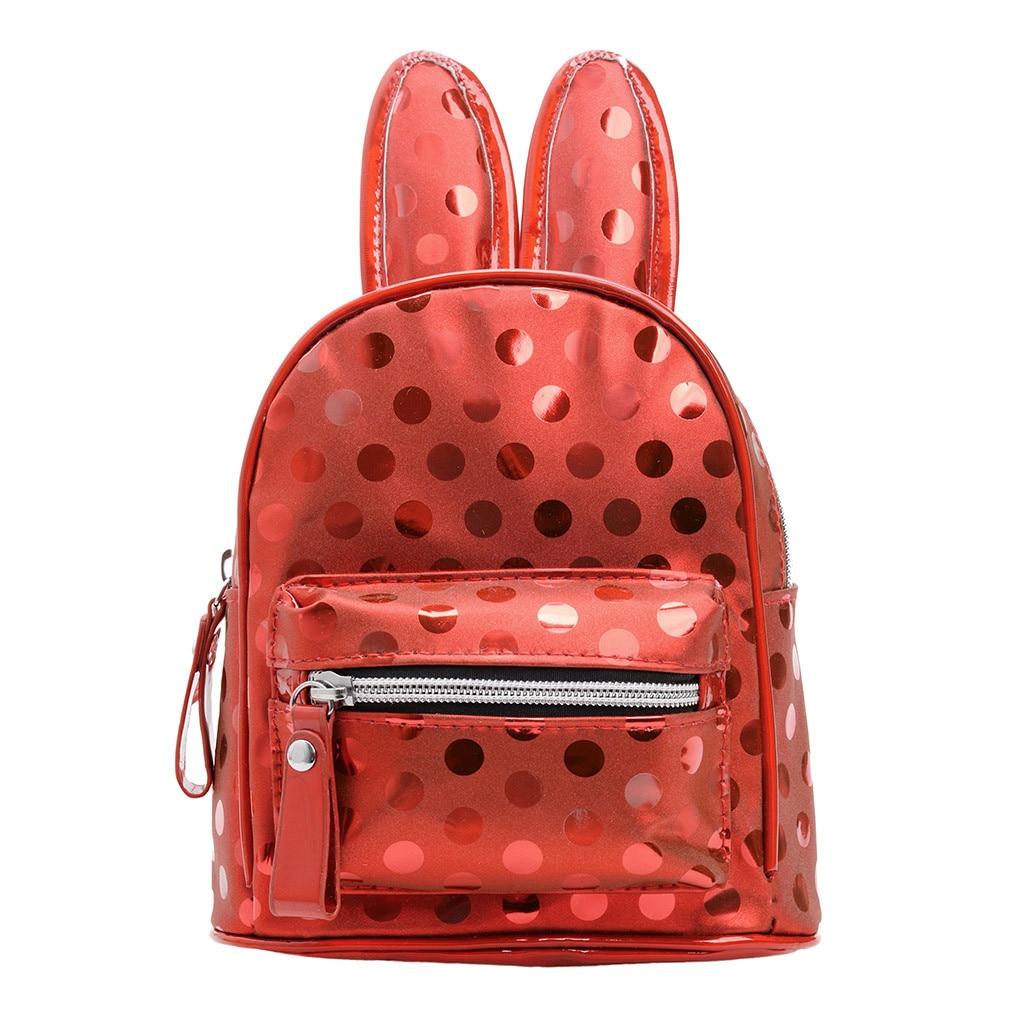 Backpack Female Small Rabbit Mini Children Cartoon Ear-Bag Wave-Point-Package Kid Cute