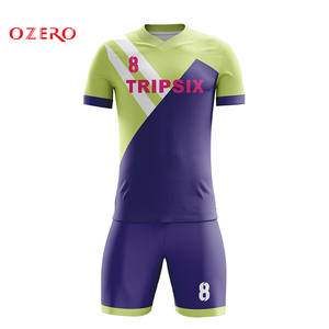 d4000abee custom stripes soccer uniform yellow blue color mix sublimation printing soccer  jersey