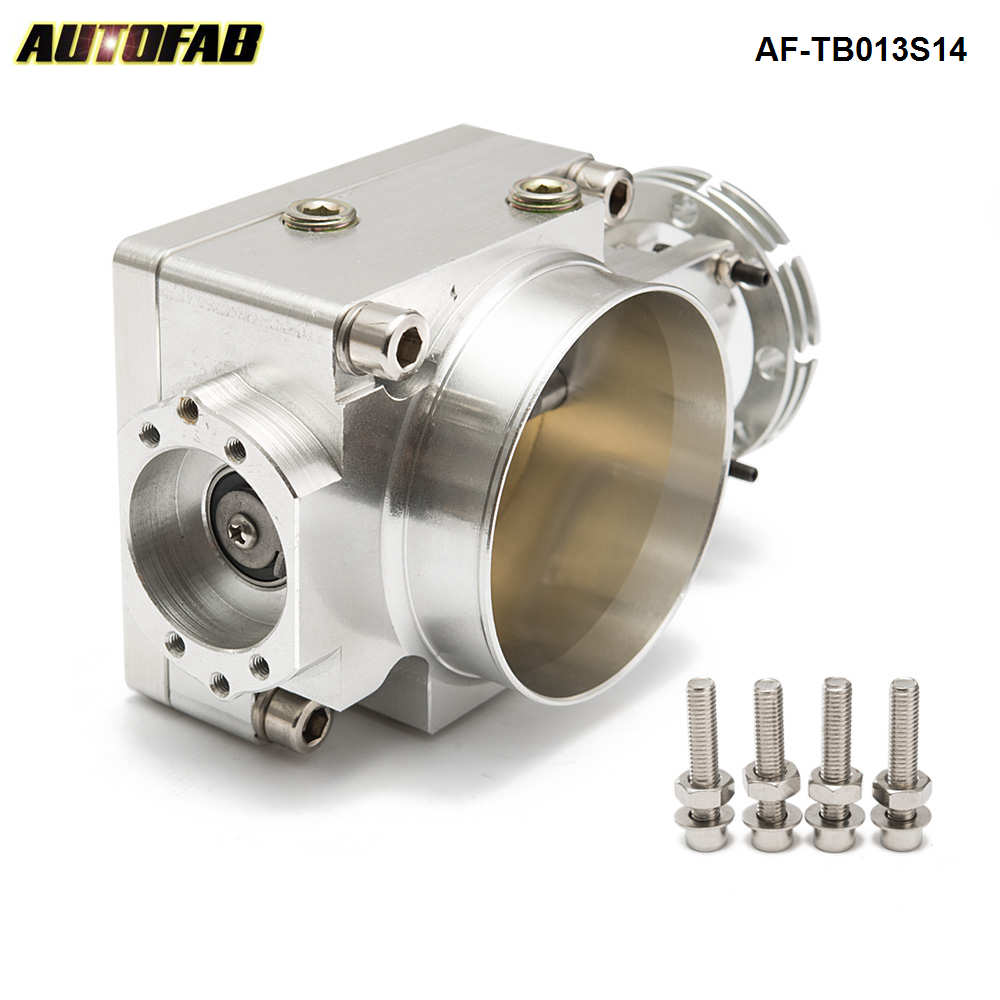 Universal Fit Upgrade Aluminum Fit 80mm Throttle Body w// Adaptor Plate Will Work with Cable Drive Only