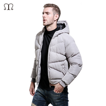 Europe Size Men Winter Jaket Brand Warm Men's Woolen Jackets and Coats Cotton Parka Outwear Overcoat Fashion Male Windbreaker(China)