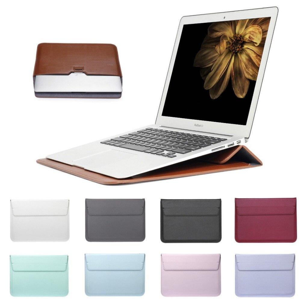 SZEGYCHX Leder Mail sack Sleeve Tasche Fall Für Macbook Air Pro Retina 11 12 13 15 Notebook Laptop Abdeckung Für mac buch 13,3 zoll
