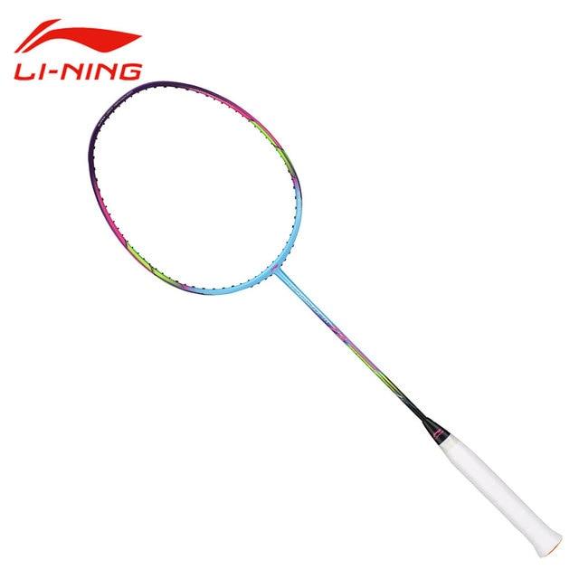 Li-Ning WS72 Super Light 72g 30LBS Carbon Badminton Racket Soft Shaft Li Ning Flexible Racquet LINING Sports Rackets AYPM084