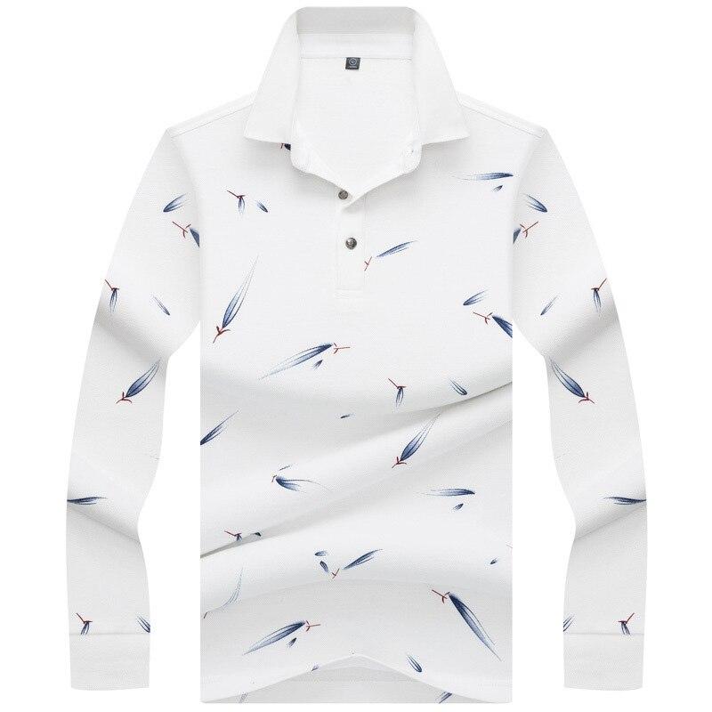 Brand New Fashion Men   Polo   Shirts 2018 Autumn Luxury fish Print Breathable Camisa Masculina Soft Cotton solid   Polo   Men