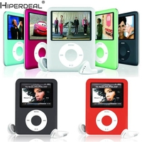 HIPERDEAL Mp3 Player Slim MP3 8GB 1 8 LCD Media Video Game Movie Radio FM 3th