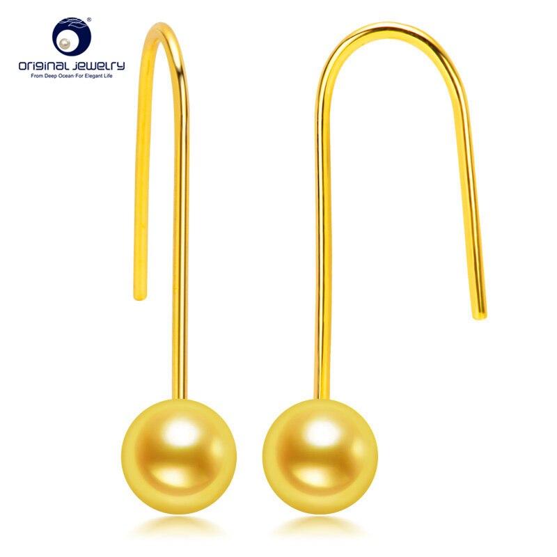 YS 5 6mm AAA Quality Japanese Akoya Seawater Pearl Drop Earrings Simple Design Earring