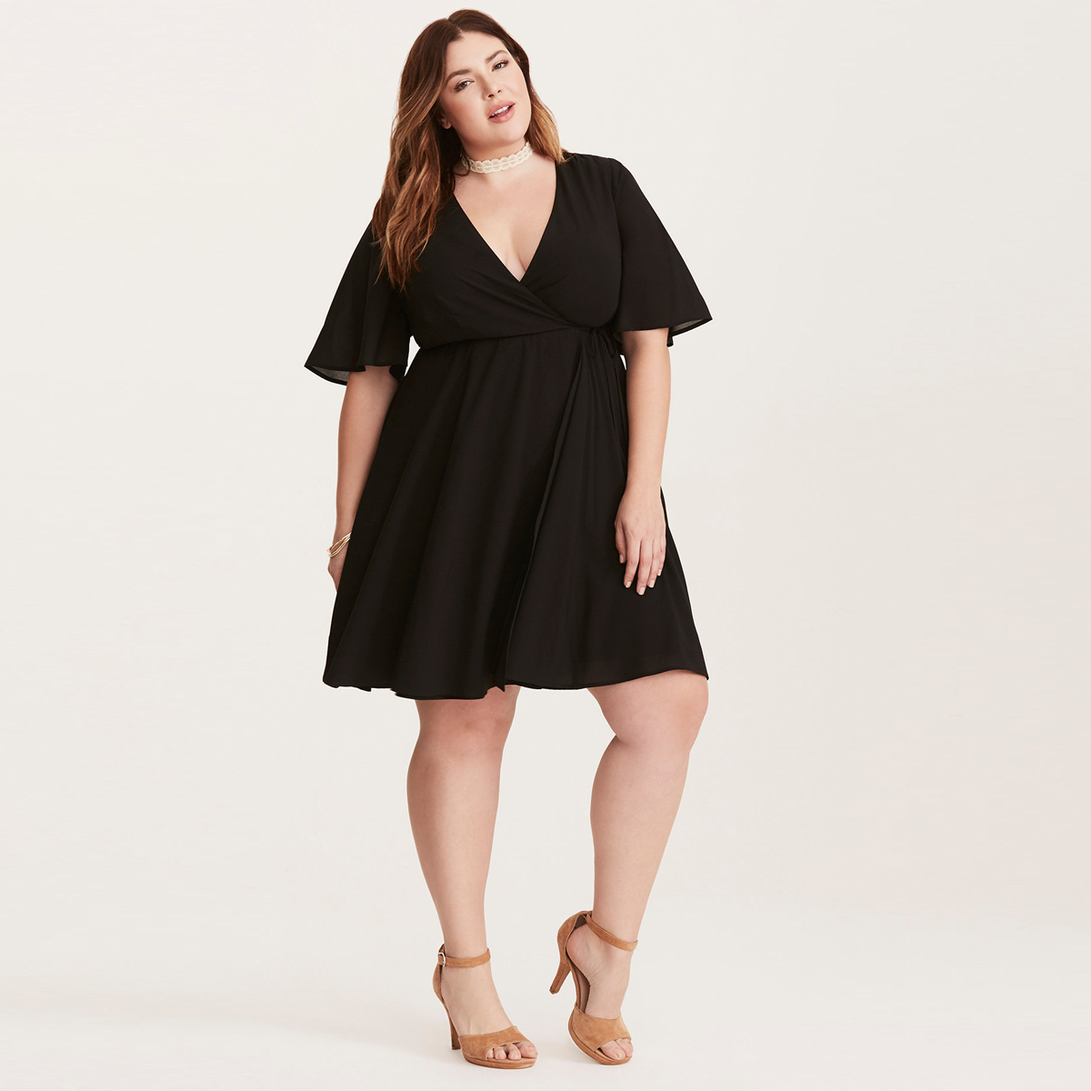 bc77f28b6d0 MCO 2018 Summer Sexy V Neck Plus Size Wrap Dress Oversized Basic Big Office Ladies  Dresses Classic Black Womens Dress 5xl 6xl-in Dresses from Women s ...