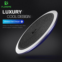 Qi Wireless Charger FLOVEME Original Leather Wireless Charger Charging Pad For Samsung S8 Plus S7 Edge