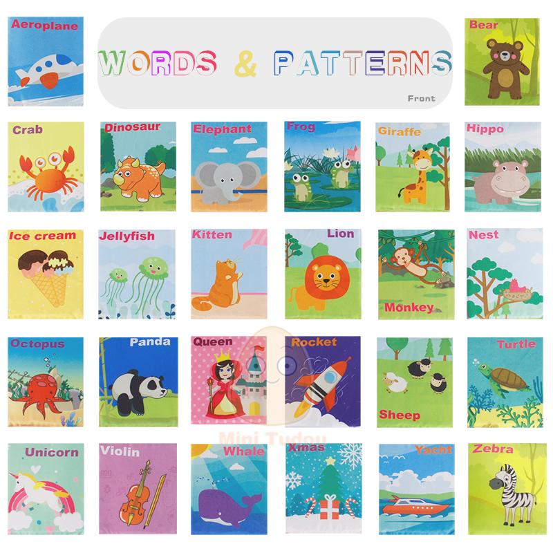 Image 4 - Newest Flashcards Learning Resource Baby Book Toy 26PCS Soft Alphabet Cards With Cloth Bag Babies English Reading Books    -