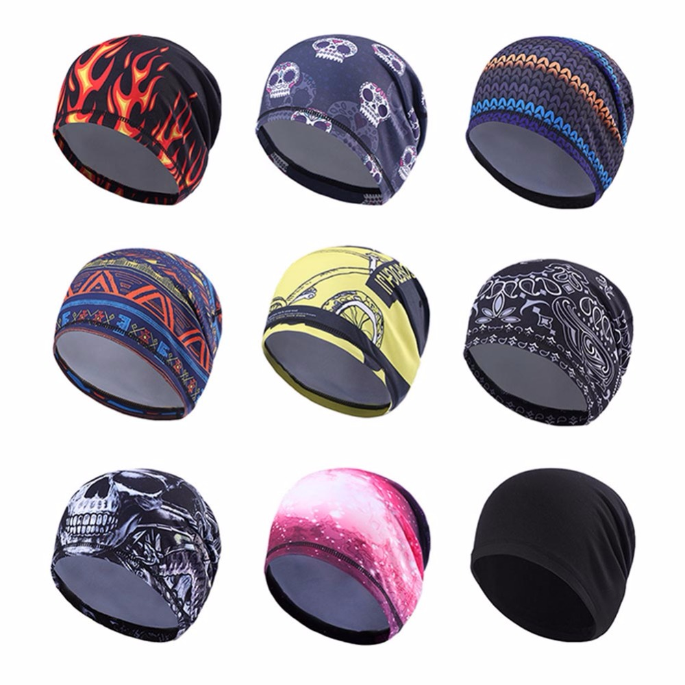 Outdoor Sports Bike Fleece Hats For Men Windproof Sport Cycling Bicycle Breathable Cap Bicycle Riding Headband tsai winter warm fleece full face cycling mask windproof double layer riding hat multifunction outdoor sport cap for men