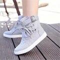 Alta marcas ayudan a los zapatos de lona de la moda transpirable clásico de las mujeres planas de tamaño 35 a 41 yardas de envío libre