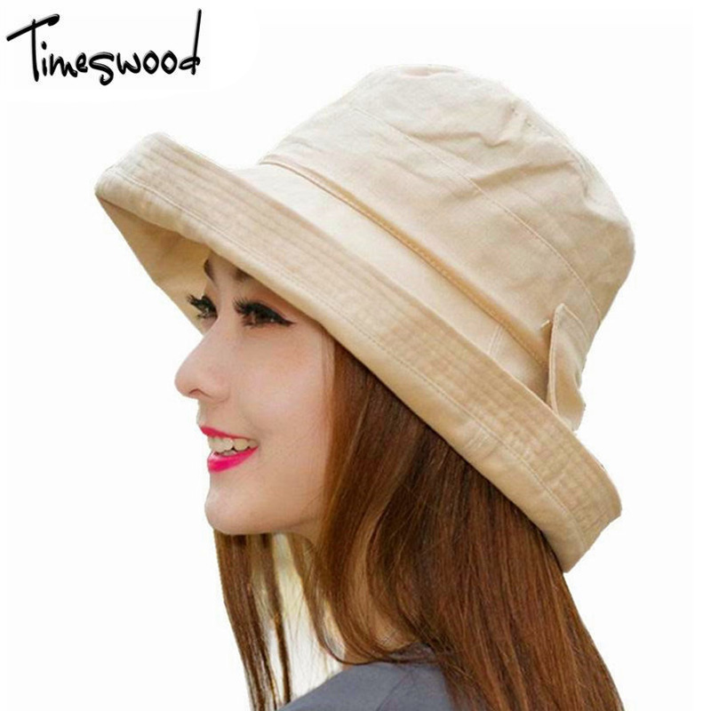 Women Bowknot Sun Hat, Design Summer Beach Fisherman Hats ...