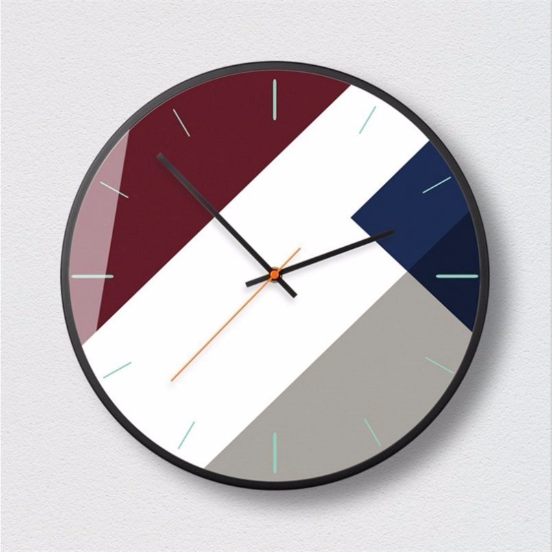 New 12/14 Inch Fashion Clock Technology Sense Nordic Modern Minimalist Mute Wall Clock Large Size Bedroom Living Room Decoration