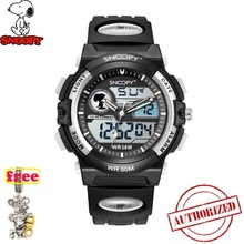 SNOOPY Men Military Watch Waterproof WristwatchDUAL DISPLAY LED Quartz Clock Sport Male relogios masculino KIDS Shock s778