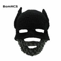 BomHCS Barba Berretto Cavaliere Cappello Gorro Handmade Crochet di Inverno Caldo Divertente Del Partito Mask Beanie Donna Uomo Freddo Regalo Della Novità