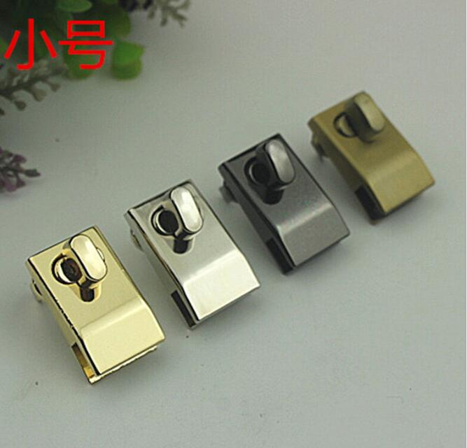 (10 Pieces/lot) Wholesale Luggage Hardware Die-casting Electroplating DIY Handbags Small Twist Lock Hardware Accessories