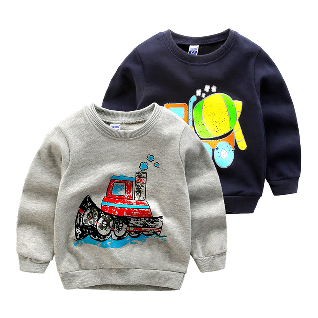 Boy t-shirt baby clothes spring cotton long sleeve top wear