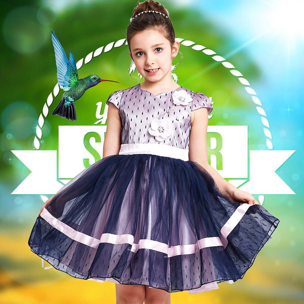 Princess Dress Girl Clothes 2017 Brand Summer Girls Tutu Dress with Flower Bow Robe Enfant Fille Children Costume for Kids Dress  girls party dresses silk chiffon 2017 brand toddler dress princess costume for kids clothes flower robe enfant children dress