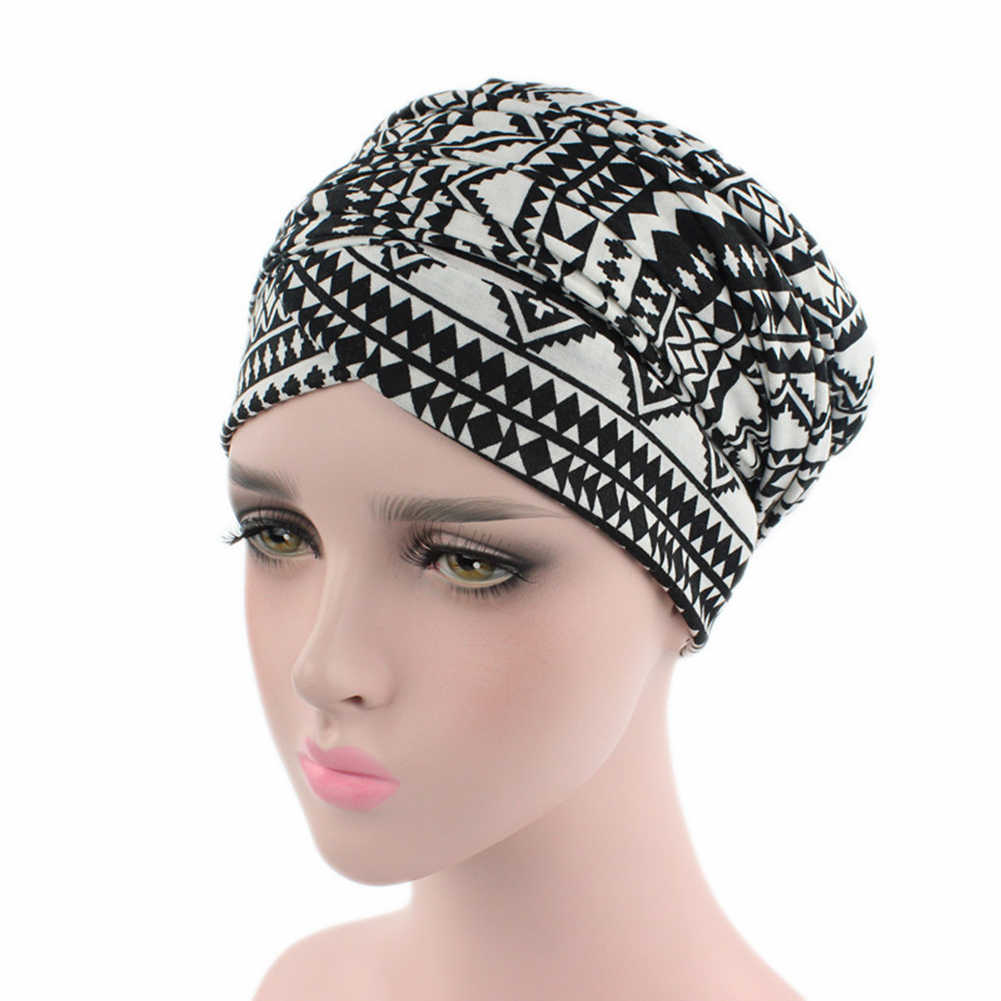 ... Helisopus Women New African Cotton Scarf Wrapped Head Turban Ladies  Hair Accessories Scarf Hat Headwrap Long ... e1184ae1b004