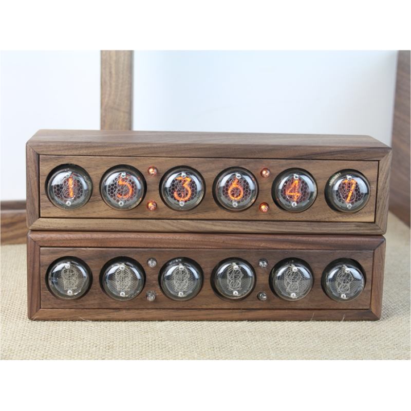 Image 3 - Glow digital electronic tube clock black walnut solid wood digital QS30 SZ8 digital tube DIY Retro with Remote controller-in Integrated Circuits from Electronic Components & Supplies