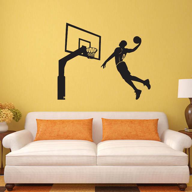 Online Shop 3d Dunk Wallpaper Art Basketball Wall Stickers Sports