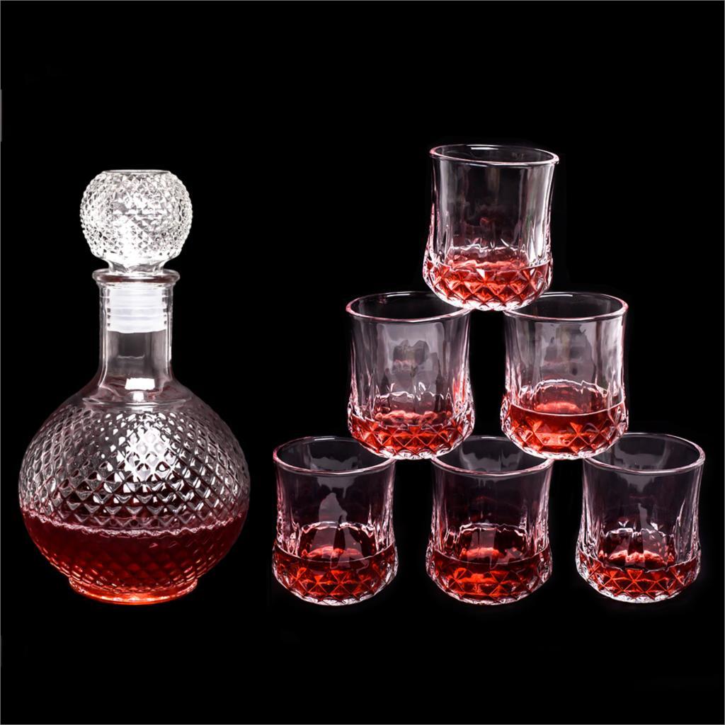 New Glass Decanter Vintage Glass Liquor Whiskey Crystal Bottle Wine